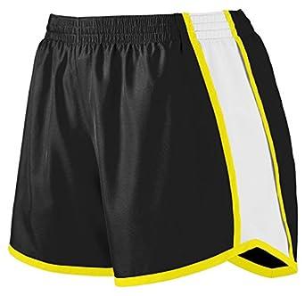 Augusta Sportswear Women's Team Short, Black/ White/ Power Yellow, Small