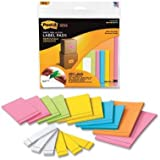 Removable Label Pads, Asst Sizes/Colors, 25 Lbls/Pad, 400 Labels/PK