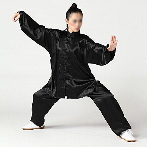 Andux Chinese Traditional Tai Chi Uniforms Kung Fu Clothing Unisex SS-TJF01 Black (XXL)
