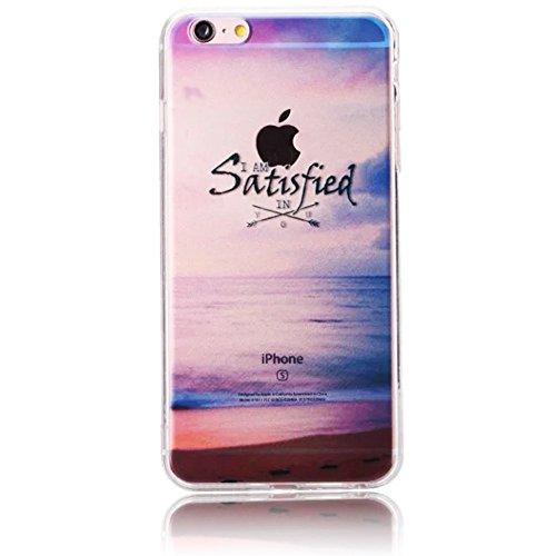 Vandot TPU Coque de protection pour iPhone 6 6s TPU gel silicone transparente Case Cover Housse Etui Hull