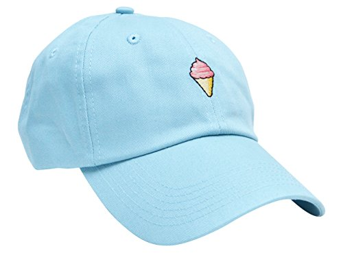 Skyed Apparel ICE CREAM Embroidery Adjustable Baseball Cap Hat (Baby Blue) (Kc Company Smash compare prices)