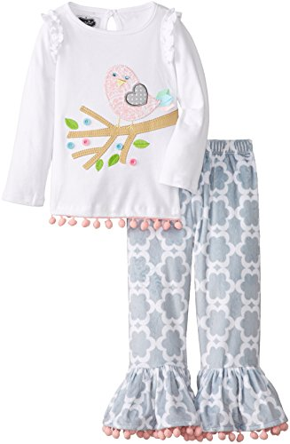Mud Pie Little Girls' Chick Tunic And Legging Set, Gray, 2T front-185849