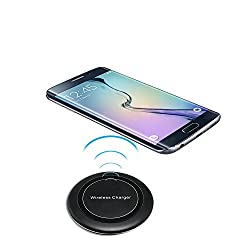 Wayona Qi Wireless Charger Round Pad for Qi Phones Smartphone, for Samsung Galaxy S6/S6 Edge/S6 Edge Plus/Galaxy Note 5/LG G4 /Other Qi compliant device