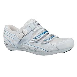Shimano 2013 Women's Road Cycling Shoes - SH-WR41 (White/Blue - 40)