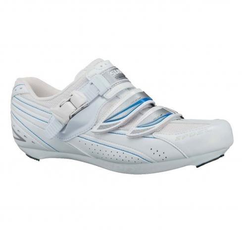 Shimano 2013 Women's Road Cycling Shoes - SH-WR41 (White/Blue - 38)
