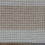 Colorgrown Waffle Weave Fabric - Brown Stripe Color - Organic Cotton