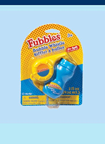 Fubbles No Spill Bubble Whistle-various Colors