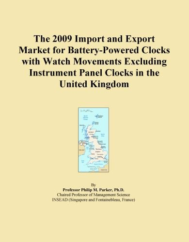 The 2009 Import and Export Market for Battery-Powered Clocks with Watch Movements Excluding Instrument Panel Clocks in the United Kingdom