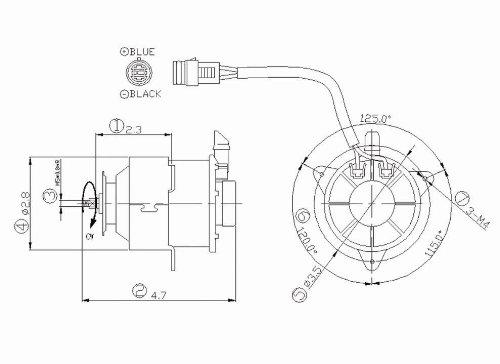 Tyc 630930 Chevrolet/Geo/Dodge Replacement Radiator Cooling Fan Motor
