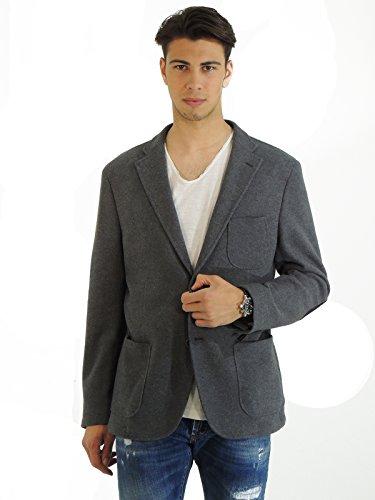 Manuel Ritz giacca uomo monopetto in cotone G2708MX14365 (56, GRIGIO)