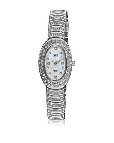 Bürgi Reloj de cuarzo Woman Diamond Plateado 23 mm