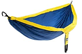 Eagles Nest Outfitters DoubleNest Hammock, Navy/Yellow