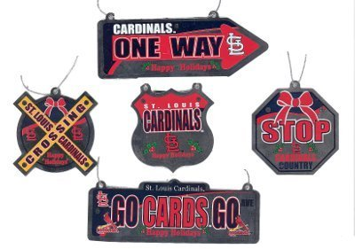 MLB St. Louis Cardinals 5 Pack Metal Street Sign Ornament at Amazon.com