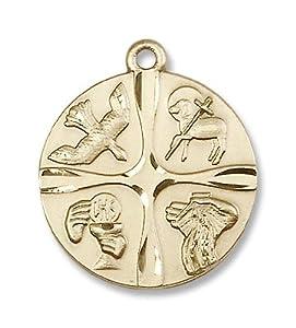 14kt Gold Christian Life Medal