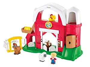 (金盒)Fisher-Price Little Animal Farm费雪standard包装农场玩具$19.99