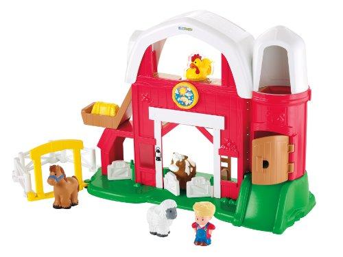 德国hape开心农场森林动物游戏盒大号儿童串珠