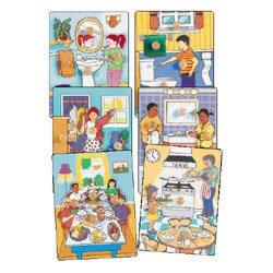 Picture of Melissa & Doug Kaplan Life Skills Knobless Puzzles (Set of 6) (B0007KK0Q2) (Pegged Puzzles)