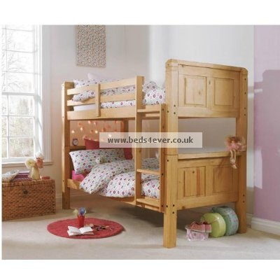 3FT SOLID PINE BUNK BED IN WAXED FINISH SPLIT INTO TWO BEDS EXCELLENT QUALITY
