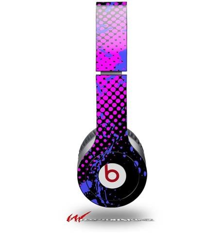Halftone Splatter Blue Hot Pink Decal Style Skin (Fits Genuine Beats Solo Hd Headphones - Headphones Not Included)