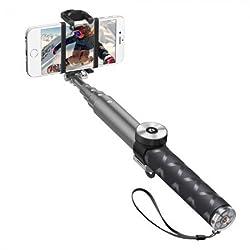 Selfie stick PRO with bluetooth, 95cm, aluminium, graphite, Deppa