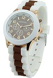 Women's Geneva Silicone Band Jelly Gel Quartz Wrist Watch