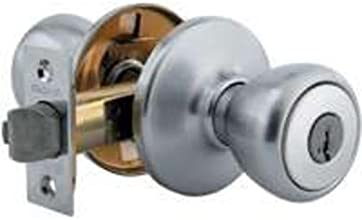 Kwikset Tylo Entry Knob featuring SmartKey® in Satin Chrome