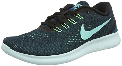 Nike Free Rn, Scarpe Running Donna, Nero (Black/Hyper Turquoise Green Abyss Volt), 37.5 EU