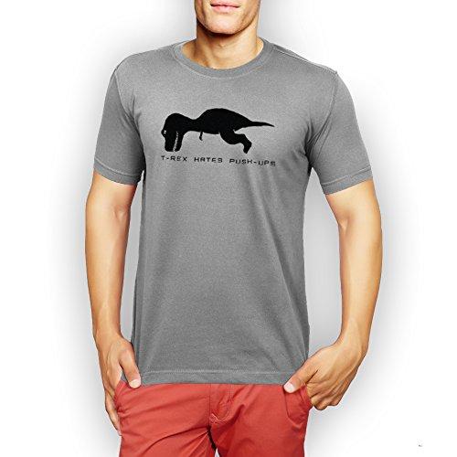 T Rex Hates Push Ups XXL Uomini T-Shirt