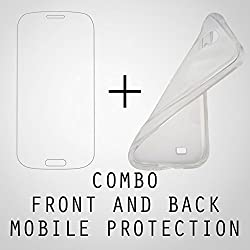 Jaz Deals Iphone6 Complete Protection Tempered Glass plus Back Soft Silicon Crystal Cover