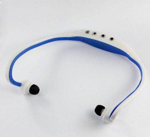 Best The Blue Sport Wireless Earphones Headphones Music Mp3 Player Tf Card Fm Radio Headset