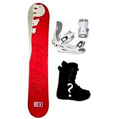 Buy 150cm Coke Cola Polar-Bear Camber Mens Snowboard, Boots, Bindings Package or Deck, U Build It by Coke Cola