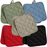 5 (FIVE) Sets of The Home Store Cotton Pot Holders, 2-ct. Color Variety Pack Kitchen Cooking Chef Linens