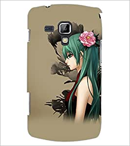 PrintDhaba Beautiful Girl D-5616 Back Case Cover for SAMSUNG GALAXY S DUOS S7562 (Multi-Coloured)
