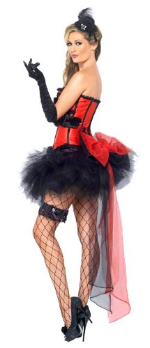 Smiffy's Burlesque Instant Kit, Red/Black, One Size