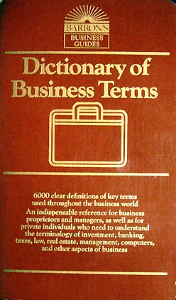 Title: Dictionary of Business Terms Barrons Business Guid