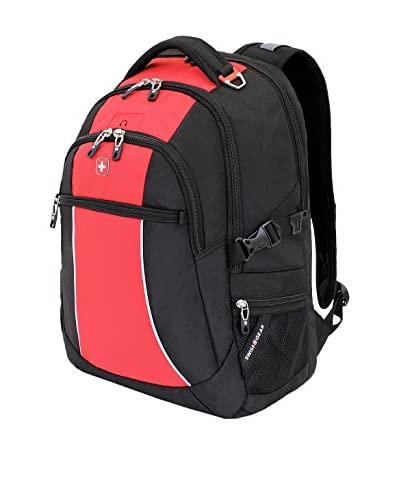 SwissGear Nylon Backpack, Red Course/ Black