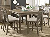 Gavin 7-Piece Rustic Counter Height Casual Dining Set (As Pictured)