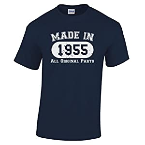 Made In 1955 Limited Edition Birthday 60th T Shirt Gift Nostalgic Retro Year Mens Regular Fit Small - XXLarge Multiple Colours