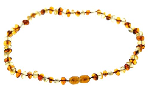 Multi Amber Teething Baby Beaded Necklace