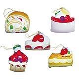 【ビニール玩具】ハッピーケーキコレクション(5種アソート) (20個入り)【パンチボール】  / お楽しみグッズ(紙風船)付きセット [おもちゃ&ホビー]