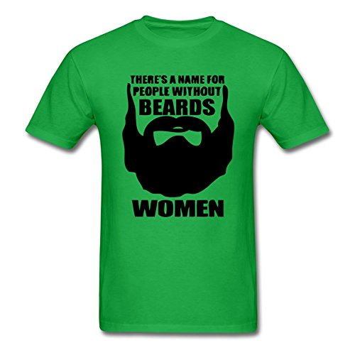Kerner There Is A Name For People Without Beards Adult T-Shirt Tee Tee Green, Black1, XXX-Large