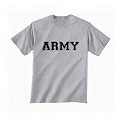 Athletic ARMY Short Sleeve T-Shirt in sport grey