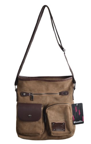 Why Choose Good&god Canvas Ipad Messenger Bag Vintage Shoulder Bag with Strap Field Bag