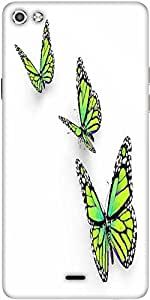 Snoogg Butterfly Isolated On White Designer Protective Back Case Cover For Micromax Canvas Silver 5 Q450