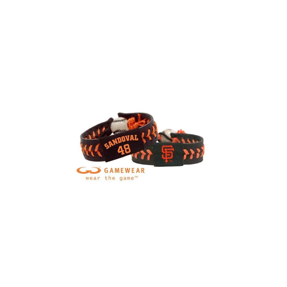 Pablo Sandoval/ San Francisco Giants Team Color Jersey Bracelet and San Francisco Giants Team Color Baseball Bracelet
