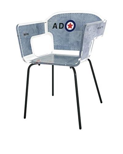 ACRILA Alnoor Chair, Grey