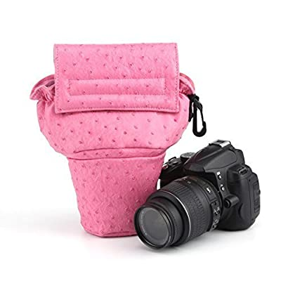 Chinatera Fashion DSLR Camera Bag for Canon Nikon Sony 600D 650D D90 D7000 Pink L