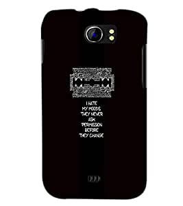 PrintDhaba Quote D-4706 Back Case Cover for MICROMAX A110 CANVAS 2 (Multi-Coloured)