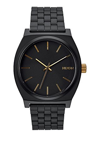 NIXON - The Time Teller Matte Black/ Gold A0451041, Armbanduhr