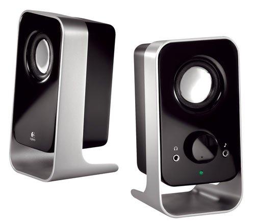 Logitech LS11 2.0 Stereo Lautsprechersystem silber